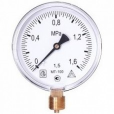 Манометр МТ 100М 1,6МПа (метрическая резьба - М20х1.5)