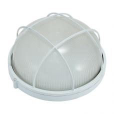 Светильник НПП 6001L (HPL001L) 100W/220V IP54, круг c  решеткой белый ETP