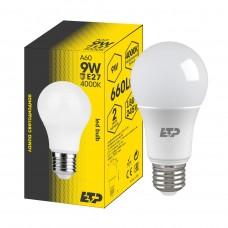 Лампа светодиодная A60 9W 4000K E27 ETP