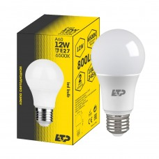Лампа светодиодная A60 12W 6500K E27 ETP