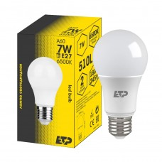 Лампа светодиодная A60 7W 6500K E27 ETP
