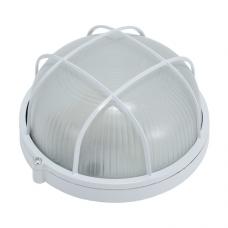 Светильник НПП 6001S (HPL001S) 60W/220V IP54, круг c решеткой  белый ETP