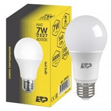 Лампа светодиодная A60 7W 4000K E27 ETP