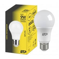 Лампа светодиодная A60 9W 3000K E27 ETP