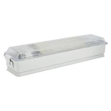 Светильник ЛПБ 31-11-006В металлический антивандальный,  IP40, G23 закругленный 345х80х50