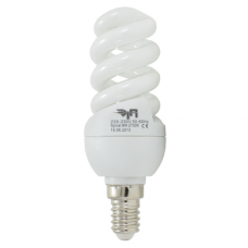 Лампа люминесцентная SP 9W 220V 2700K Е14 mini Full  ETP