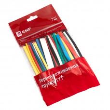 Набор ТУТ: 6 цветов по 5шт. Разного диаметра  (3/1,5, 4/2, 5/2,5, 6/3, 8/4) 100мм. EKF PROxima