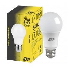 Лампа светодиодная A60 7W 3000K E27 ETP