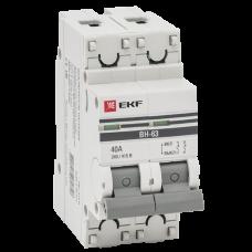 Выключатель нагрузки ВН-63, 2Р 40А EKF PROxima