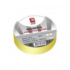 Изолента ПВХ 15мм, 20м желтая EKF Simple
